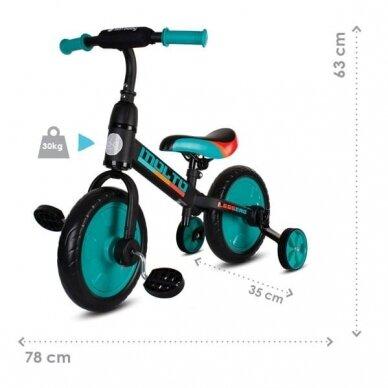 Balansinis dviratukas 3in1 MOLTO LEGGERO 8