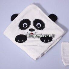Rankšluostis su gobtuvu Panda 75 x 90 cm